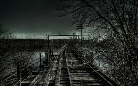 dark day - dark, tracks, photography, traintracks