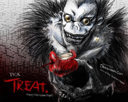 sweet treat - apple, deathnote, ryuk, anime