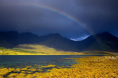 Rainbow_and_Cuillins - beautiful, rainbow, cuillins, picture