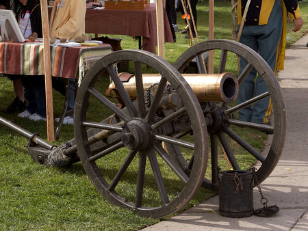 Old Time Cannon - war, time, weapon, cannon, old