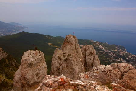 View from the Ai-Petri mountain to Black Sea - black sea, mountain view, ai-petri, crimea