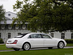 Maybach white car beautiful