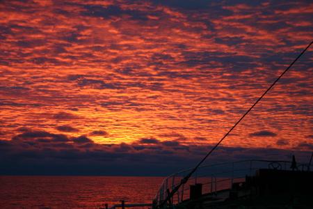 D�a de verano en la Ant�rtida - sunset, paisaje, pesca, antartida