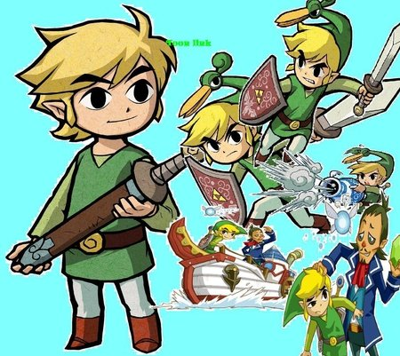 Toon Link - toon link, boat, ezlo, shield, video games, sword, fairy, linebeck