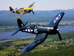 Corsair and Mustang Flight