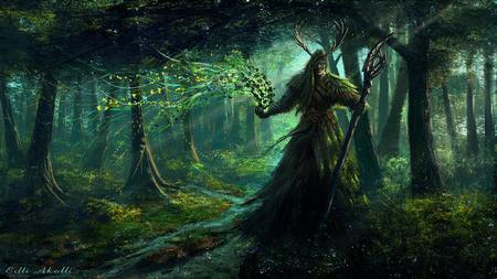 druid - forest, fantasy, jungle, anime, dark, scream