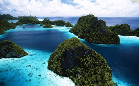 Island - cool, blue, nature, island