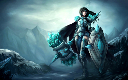 Sexy anime warrior