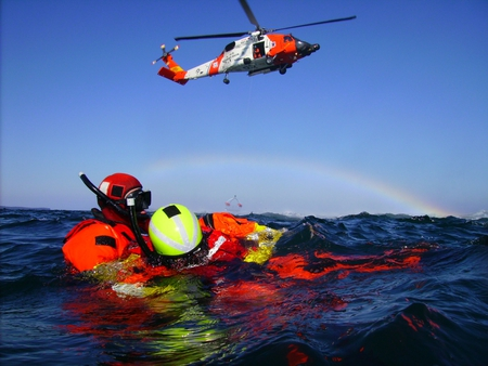 Air rescue at sea - photograph, men, helicopter, ocean, other