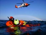 Air rescue at sea