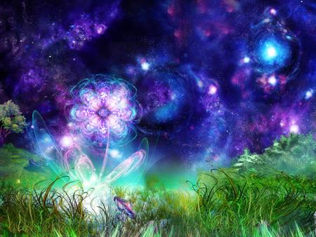 Fantasy Fairy World Fantasy Abstract Background