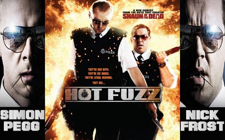 Hot Fuzz Movies Entertainment Background Wallpapers On