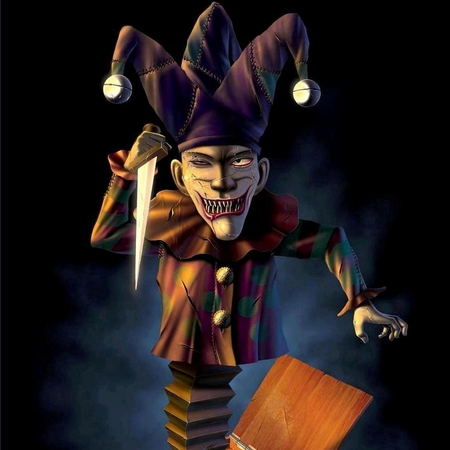 mAD jAcK - 3d, joker, jack, mad, knife