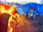 feraligatr vs. typhlosion
