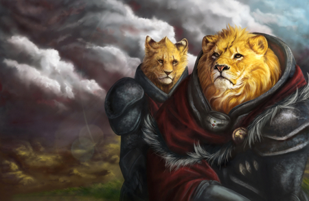 King of Beasts - lions, fantasy, lion, artistic