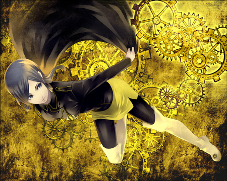 Fly Together - girl, anime, new, sci fi, beauty, wall