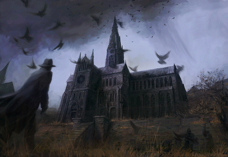 Masters Home - fantasy, halloween, artistic, scary, dark