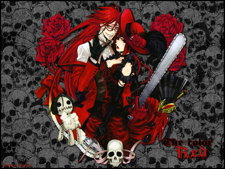 The color red - red, reaper, death, blood