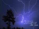 Miracle of Lightning (Quoted Wallpaper)
