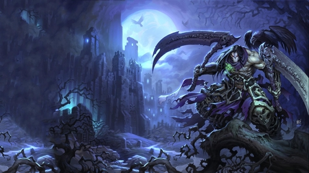 Death - death, action, darksiders, video game, horror, adventure, darksiders 2, reaper, dark, skull
