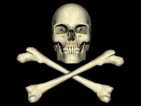Skull And Crossbones 3d And Cg Abstract Background Wallpapers On