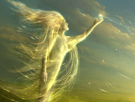 Angel of Light and Sky - 3d, faerie, wind, female, fay, faery, fairy, fantasy, angel, light, women, elf, sky, girl, angels, fae, pixie