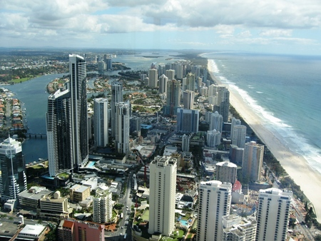 Australien Gold Coast - skyscrapper, coast, sky, australien, gold coast, air view
