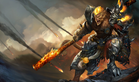 League of Legends - General Wukong Chinese Splash Art - chinese splash art, league of legends, general, wukong