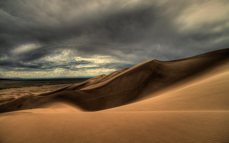 Desert Storms - sand, desert, dunes, nature, clouds, storm