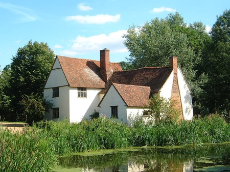 Willie Lott's Cottage - artist, constable, lott, willie, cottage, suffolk, john, famous, painting