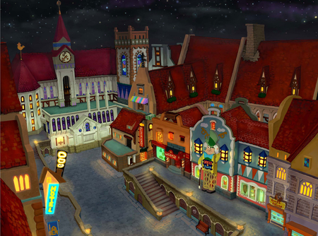 Traverse Town - traverse town, kingdom hearts, keyblade, town