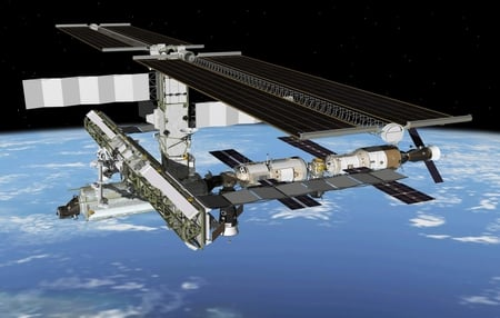 SPACE STATION - terra, station, orbit, space