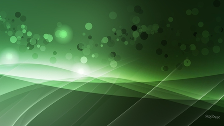 Green Abstract Wonders - curves, green, bubbles, firefox persona, lines, abstract, lights