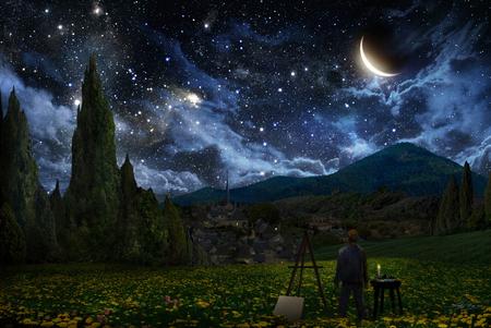 Starry Sky Sky Nature Background Wallpapers On Desktop Nexus Image 764471