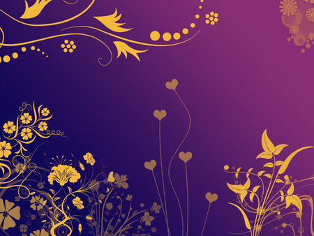 Yellow Flowers In Purple Field Textures Abstract