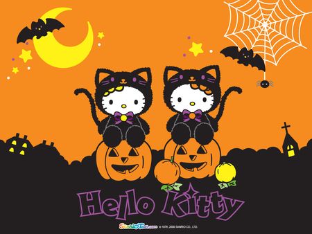 HELLO KITTY HALLOWEEN - kitty, happy, halloween, hello