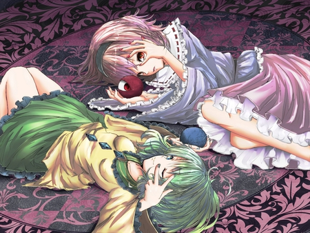 Touhou Girls - girl, anime, touhou, game, new, 2011, wall, classic