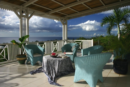 Ocean Terrace - veranda, table, ocean, chairs, terrace