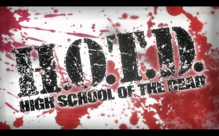 High School of The Dead - hotd, title, anime, blood