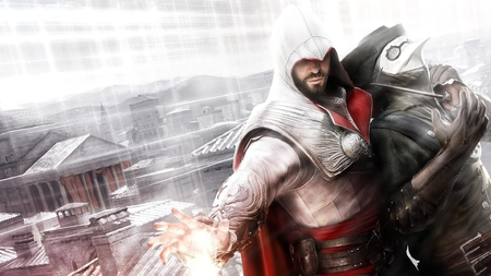 Assassins creed shooting - assassins creed brotherhood, ezio and the doctor, shooting, assassins creed