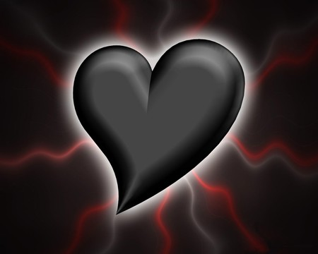 Black Heart 3d And Cg Abstract Background Wallpapers On