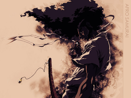 Afro Samurai - game, samurai, sword, hairs