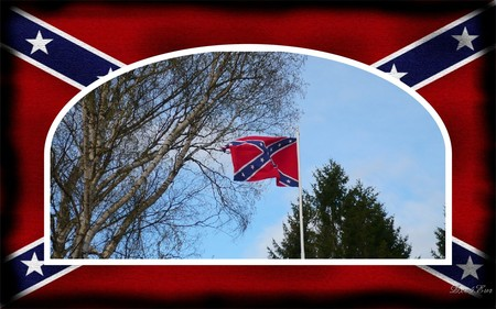 End of Civil War - flag, rebel, widescreen, civil war, framed