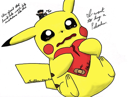 Heart Broken Pikachu Pokemon Anime Background Wallpapers On