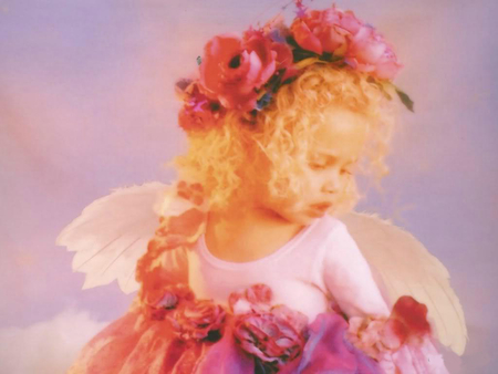 Flower angel (for Gayatri) - dreams, adorable, magic, sweet, hope, tenderness, friendship, love, flowers, beauty, child, little angel, friends, wings, angel, baby, cute, sweetness, colours, childhood