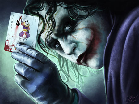 Why so Serious - art, card, movie, joker, hd, character