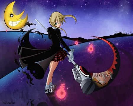 Maka Albarn - tv show, anime, soul eater, new, beauty, girls, maka, wall