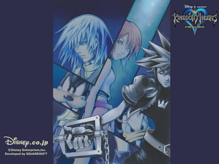 Dive Into Their Hearts - final mix, donald, goofy, riku, sora, kingdom hearts, kairi