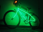 Homemade Electric Bike with NeOn Lights