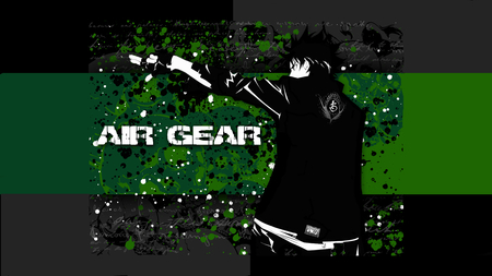 Air Gear - black, air gear, green, ikki